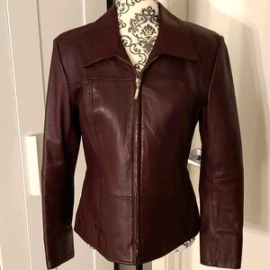 Boutique of Leathers Deep Burgundy Leather Jacket!